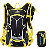 ONEPACK Cycling Backpack,18L Water-resistant Breathable Cycling Bicycle Bike Shoulder Backpack Ultralight Outdoor Sports Riding Travel Mountaineering Hydration Water Bag with Rain Cover