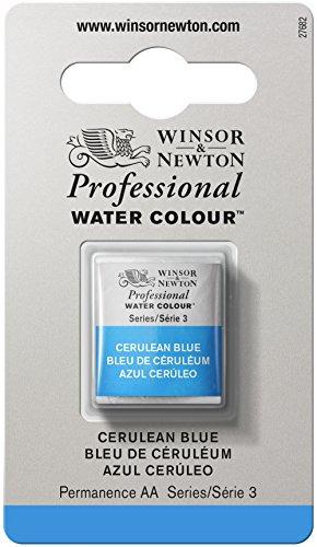 Winsor & Newton Professional Water Colour Paint, Half Pan, Cerulean Blue
