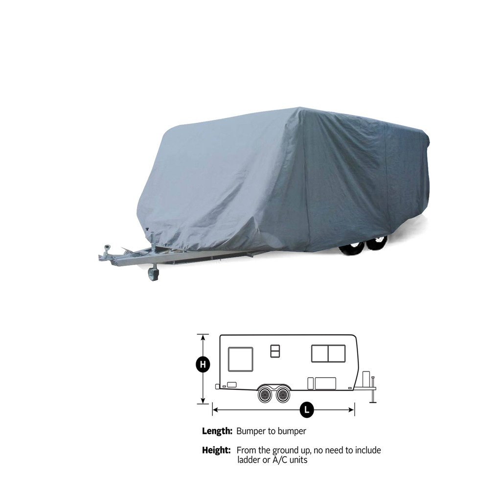 SavvyCraft 31' -32' Travel Trailer Cover Breathable and Water Repellant RV Camper Cover by SavvyCraft