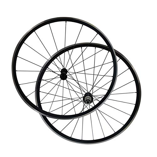 (LOLTRA Aluminium Road Bicycle Wheelset, Kinlin XR200 V-Brake 22mm Clincher Alloy Bike Wheels with Bitex R13 Hub and Mac Aero CN 424(1 Pair))