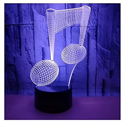 Lexin 3D Desk Lamp 7 Color Variable Usb Touch Switch Optical ...