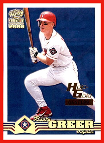 2000 Paramount Holographic Gold  235 Rusty Greer Texas Rangers Serial  44 199