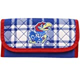 Kansas Jayhawks Royal Blue Plaid Quilted Wallet