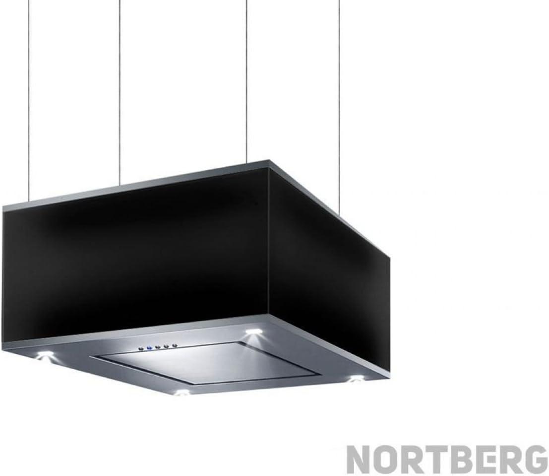 Nortberg Prince - Campana extractora (acero inoxidable, 60 cm), color negro: Amazon.es: Grandes electrodomésticos