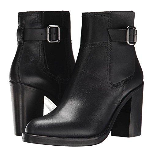 Salvaje Áspero Alto Nvxie 5 Zapatos uk Cuero Invierno Cabeza Tobillo eur37uk455 Botas Negro 4 37 5 Black Ronda Otoño Talón Eur Moda Mujeres wqYAIYXr