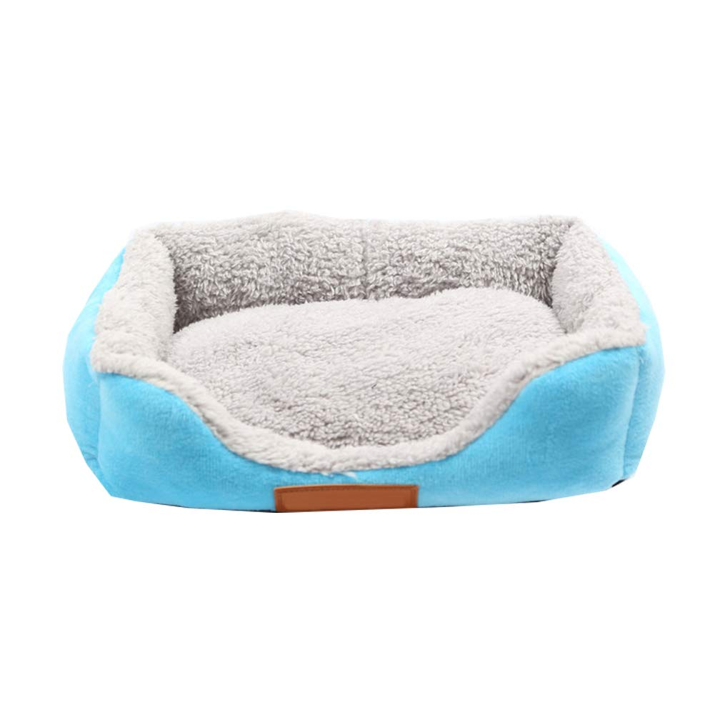 bluee XL bluee XL Washable Soft Cushion Basket Bed for Dogs Puppy Cats, Plush Lining Car Seat Cover Crate Mat