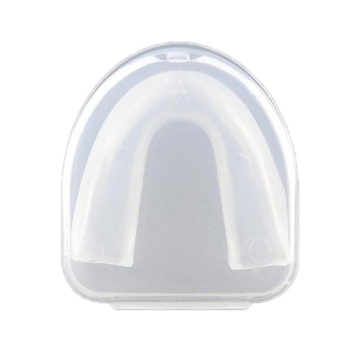 meinebe auty plastica morbida Bocca Protezione denti Protezione Bocca Protezione per Sport Basket, trasparente, 6.5cmx5.2cm MeineBeauty