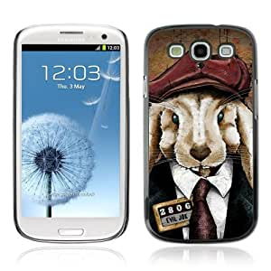 Designer Depo Hard Protection Case for Samsung Galaxy S3 / Cute Rabbit In A Suit