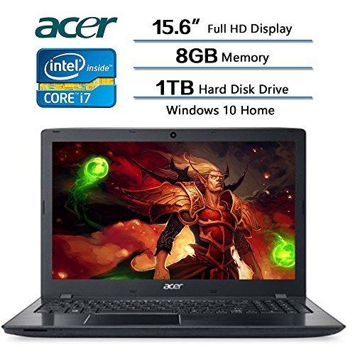 "Acer Aspire 15.6"" Full HD Display Laptop, Intel Core i7-7500U Dual-core 2.7GHz, 8GB DDR4 SDRAM, 1TB HDD, Windows 10"