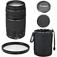 Canon EF 75-300mm III Lens Kit for Canon DSLR Cameras