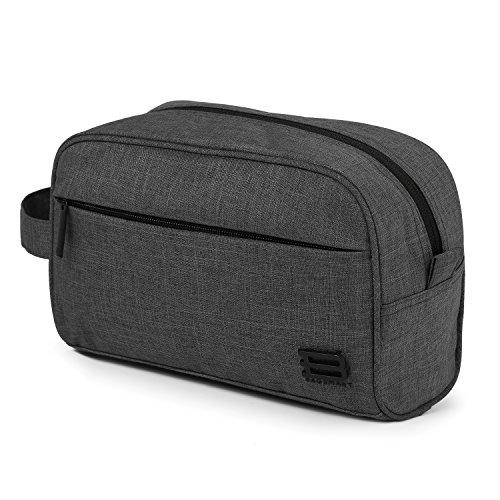 BAGSMART Toiletry Travel Bag Dopp Kit for Men and Women, Black