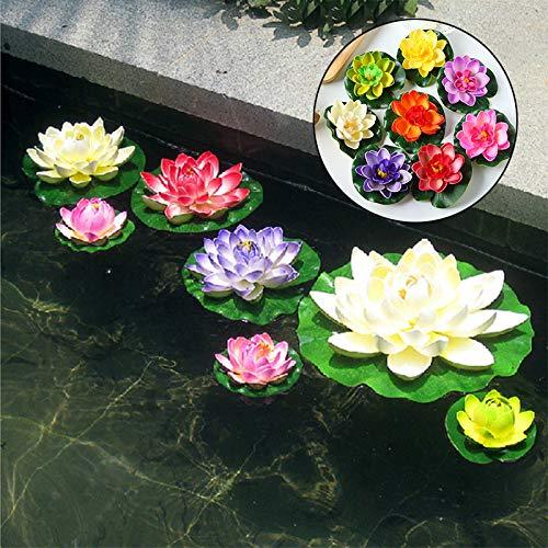 Fenghong Espuma Flotante Artificial Flor De Loto Estanque Decoración Lirio De Agua para Acuario Piscina Acuario, Naranja: Amazon.es: Hogar