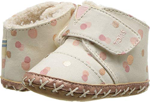 TOMS Kids Baby Girl's Cuna (Infant/Toddler) Pale Blush Party Dots 4 M US Toddler M -