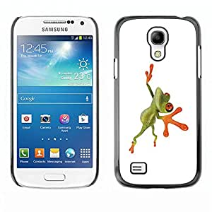 Carcasa Funda Prima Delgada SLIM Casa Case Bandera Cover Shell para Samsung Galaxy S4 Mini i9190 MINI VERSION! / Business Style Orange Jungle Frog