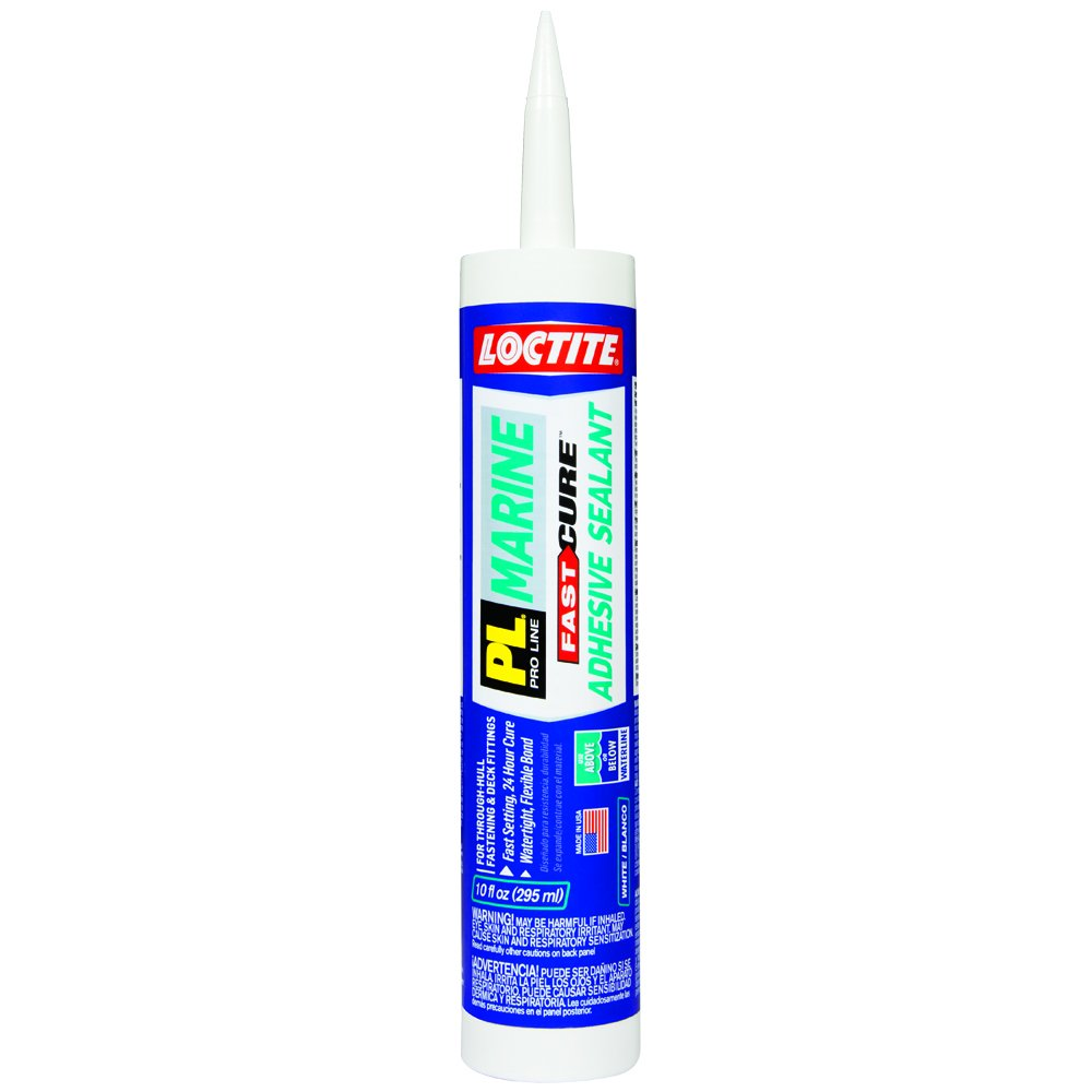Loctite PL Marine Fast Cure Adhesive Sealant, 10.1 Ounce Cartridge, 12-Pack (2016891-12) by Loctite
