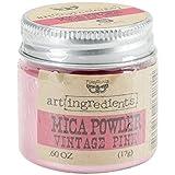 Finnabair Art Ingredients Mica Powder .6oz-Vintage Pink