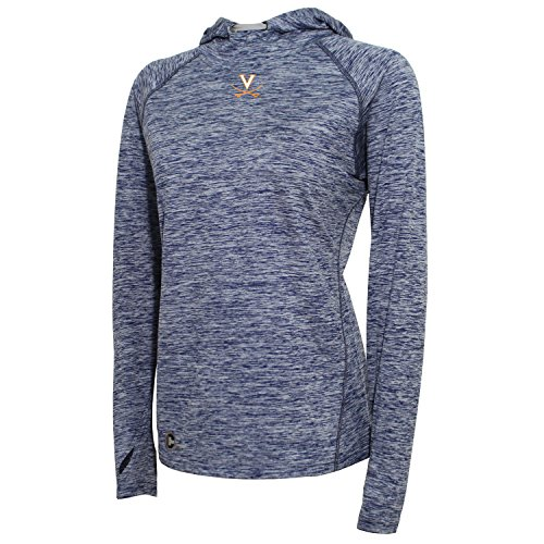 - NCAA Virginia Cavaliers Spaced Dyed Tech Pullover Hoodie, Small, Navy Heather/Varsity Orange