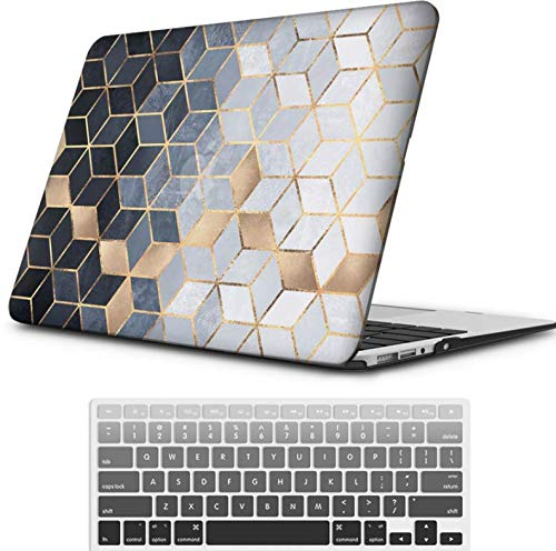 iLeadon MacBook Pro 13 Inch Case with Retina Display 2012-2015 Release Model A1425/A1502 Rubberized Hard Shell Cover+Keyboard Cover for MacBook Pro 13