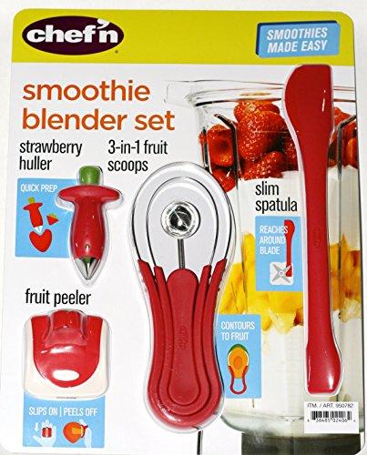 UPC 838485024064, Chef'n Smoothie Blender Gadget Set with Strawberry Huller, Fruit Peeler, Fruit Scoops, and Blender Spatula