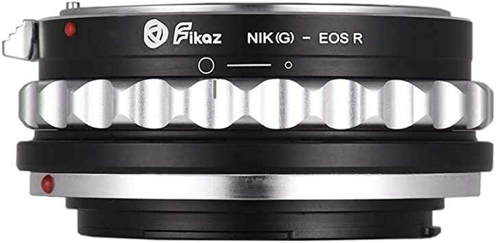 Andoer Fikaz High Precision Lens Mount Adapter Ring Aluminum Alloy for Nikon S//D Lens to Canon EOS R//RP RF-Mount Mirrorless Camera NIK-EOSR