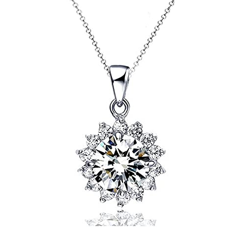 Kette Damen 925 Silber Halskette Anhänger by bravetzx  Amazon.de  Schmuck 6ae15c5734