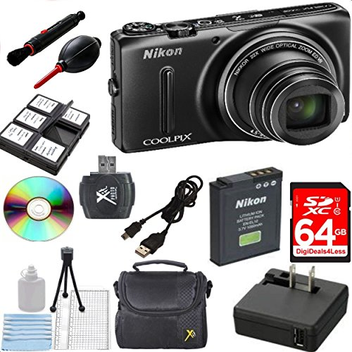 New Nikon COOLPIX S9500 Wi-Fi Digital Camera with 22x Zoom a