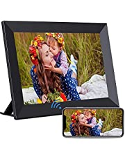 Digital Photo Frame - HaiZR Wifi Digital Picture Frames, 10.1 Inch HD Smart Cloud Frame with 1280x800 IPS Touch Screen Display, 16GB Storage,Auto-Rotate, Send Photos Remotely Via App, More Secure Than Email (Black)