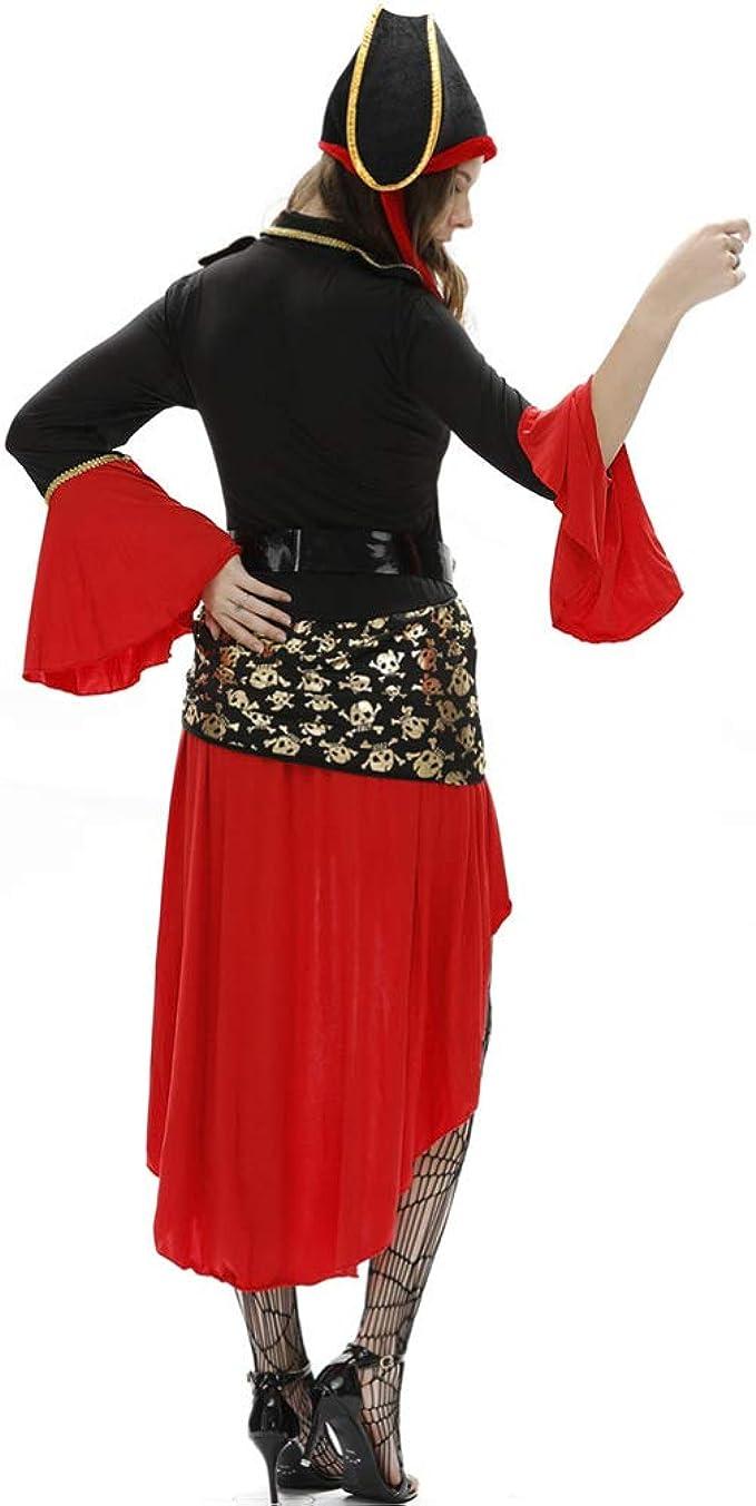 FENICAL Disfraz de pirata de mujer pirata vestido gorra falda ...