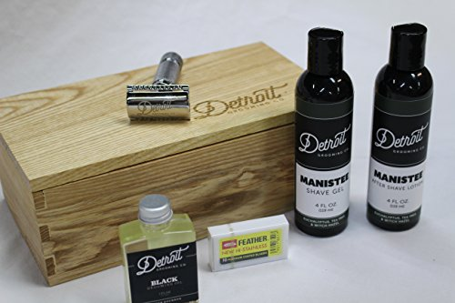 Wet Shave Starter set in ash by Potzmann Woodshop