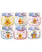 Disney Baby Winnie the Pooh Bib - Girl Varied Prints - One Bib