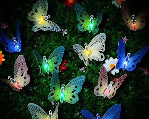 Butterfly lights solare stringa luci in fibra ottica farfalla fata