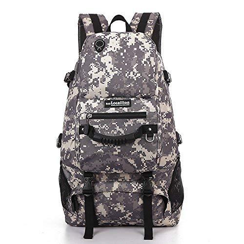 Lounayy Sie Freiensport 55L Im Wandern Spielraum Stylisch Bergsteigen Mode Rucksack Schwarz (Farbe   Camouflage, Größe   One Größe)