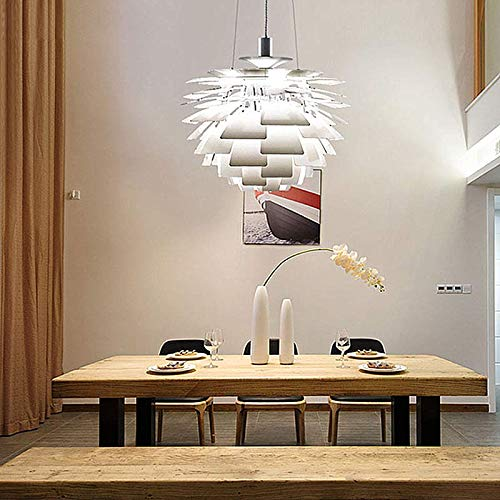 Ladiqi Modern Chandelier Creative Pine Cone Shape Hanging Pendant Light  Dining Table Lighting Fixture For Dining Room Living Room Hotel White      Amazon.com