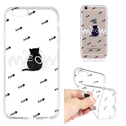 iPhone 6 / 6S Plus Custodia , Leiai Moda Scoiattolo Trasparente Silicone Morbido TPU Cover Case Custodia per Apple iPhone 6 / 6S Plus
