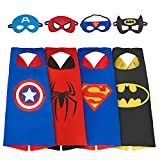Babylian Super Hero Dress Up Costumes With Masks and Capes For Kids