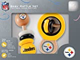 NFL Pittsburgh Steelers Baby Rattle Set – 2 Pack