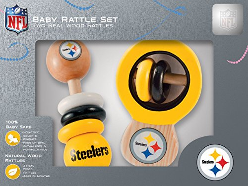(NFL Pittsburgh Steelers Baby Rattle Set - 2 Pack)