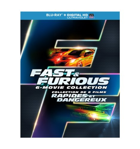 Fast & Furious Collection - The Fast And The Furious / 2 Fast 2 furious / The Fast And the furious Tokyo drift / Fast Five / Fast & Furious 6 (Fast And Furious Complete Collection Blu Ray)