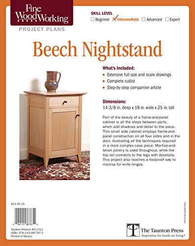 Fine Woodworking's Beech Nightstand Plan
