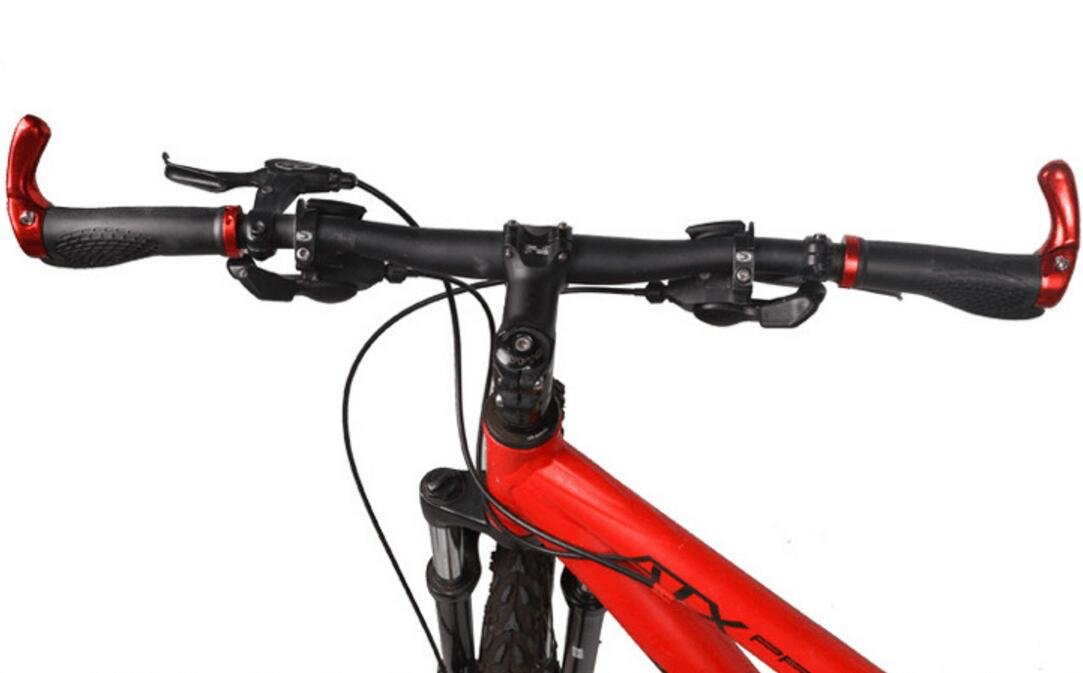 Yudanwin Accesorios para manillar de bicicleta de montaña, 1 par, mango de goma, color rojo