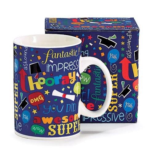 Graduate Gift Coffee Mug with Graduation Messages and Matching Gift (Graduate Mug)