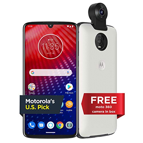 Moto Z4 with Alexa Hands-Free (Moto 360 camera included) - Unlocked Smartphone - 128 GB - Flash Gray