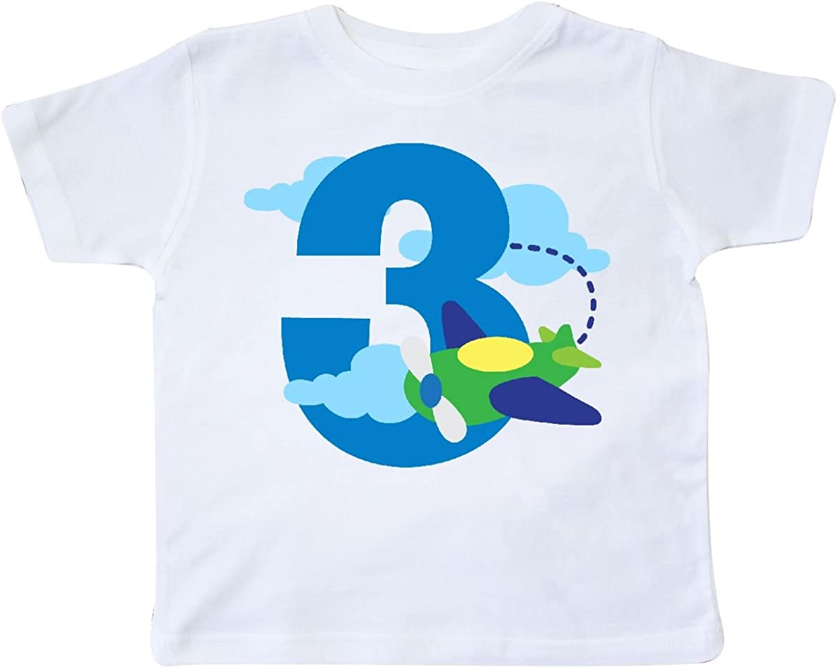 inktastic 3rd Birthday Airplane Pilot Toddler T-Shirt