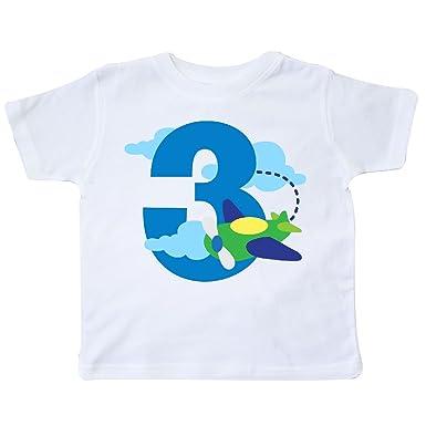 765bdfcd8 Amazon.com: inktastic - 3rd Birthday Airplane Pilot Toddler T-Shirt ...