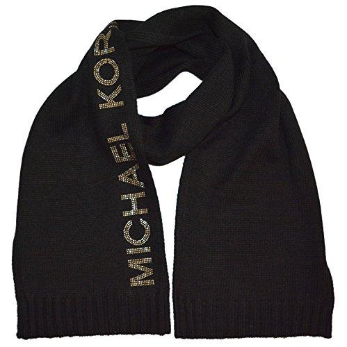 Michael Kors Collection Logo Embossed Knitted Long Scarf Muffler - Michael Sf Kors