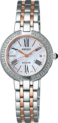 SEIKO watch EXCELINE Exceline Kabusafaiagarasu super clear coating for everyday life waterproof solar radio Modify SWCW008 Ladies