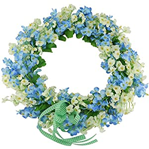 Ogrmar Handmade Floral Artificial Simulation Rose Flowers Garland Wreath for Home Front Door Christmas Wedding Party Decoration 42