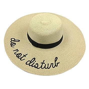 Cutowin - Sombrero de paja para mujer 53c7b62a75eb