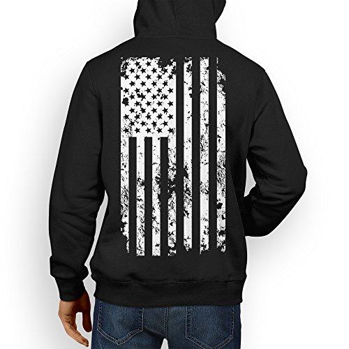 Mens White American Hoodie Sweatshirt