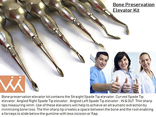 Bone Preservation - Spade Tip Elevators KIT. Dental Root Elevators